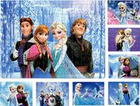 Paper Puzzle Kids Toy Anime Cartoon elsa anna jigsaw Puzzle ...