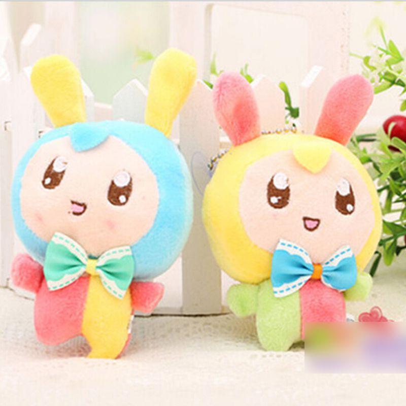 卡通可爱三色兔兔毛绒玩具挂件 结婚婚庆礼物礼品 手机挂饰 zzx062
