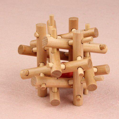 2014儿童玩具 时尚成人儿童木制解锁智力玩具拼装孔明