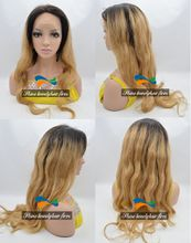 Wholesale Brazilian Virgin Hair Blonde Full Lace Wigs with Silk Top 4*4 inch 130% Density 1B/27 Honey Blonde Lace Front Wig Full Lace Wig
