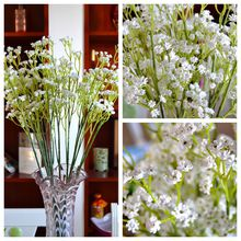 Baby Breath Artificial Flowers Ivory/Cream Real Touch Gypsophila Branch for Wedding Centerpiece Decoration Decorative Flower