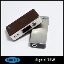 Wholesale - Original Temperature Control Sigelei 75W Box Mod Sigelei 75W Mod With Temperature Control Mod with fast delivery DHL