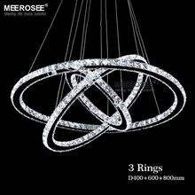 Hot Sale Modern Diamond Ring LED Crystal Chandelier Light Modern LED Lighting Circles Lamp 100% Guarantee Fast shipping