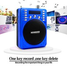 Portable MP3 FM Radio Multifunction Megaphone Support Micro SD/TF Card U Disk USB Speaker For Teaching Tour Guide Sale Promotion