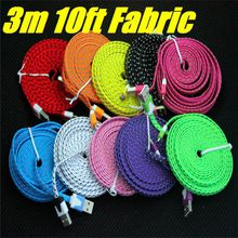 Mini USB fabric woven plane data synchronization and the charger cable fiber plain weave for Smart Mobile Phone