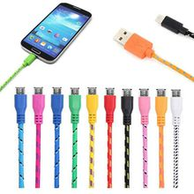 1M 2M 3M Nylon Micro USB Fiber Braided Data Charger Cable Extra Long Extension For Samsung S6 HTC Data Cable
