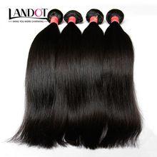 Brazilian Straight Virgin Hair Unprocessed Human Hair Weave 4 Bundles 8A Grade Peruvian Malaysian Indian Cambodian Mongolian Hair Extensions