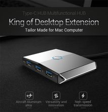 Type-C Hub Multi-function hub usb3.0 3-port with sd card for Macbook PC Notebook PC SD / TF interface
