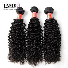 Brazilian Curly Virgin Hair 3Pcs Lot Grade 7A Unprocessed Deep Curls Human Hair Weave Bundles Double Weft Soft Thick Nature Black Extensions
