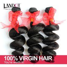 Brazilian Loose Wave Virgin Hair 3Bundles Lot Grade 7A Unprocessed Brazilian Human Hair Weave Curly Double Weft Nature Black Remy Extensions