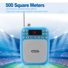 Loud speaker With Microphone Voice Amplifier Audio Booster Megaphone Speaker With FM Radio Recorder Support USB disk TF Card