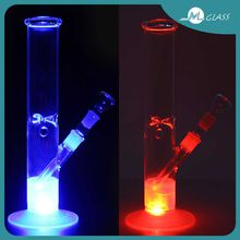 Colorful Glass Water Pipes Bongs Glass Percolator Bongs 18.8mm Bowl Joint LED Light Free Shipping ML07004