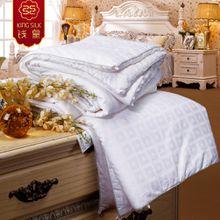 white new winter 100% cotton warm comforter pure silk blanket quilt mulberry silk comforters