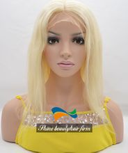 InStock 613 Blonde Human Hair Full Lace Wigs for White Women 130% Density 14-16 inch Glueless Silk Top Full Lace Wigs With Baby Hair