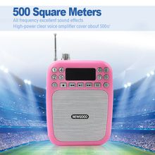 Micro SD card and U disk audio player support Portable voice amplifier with wired megaphone and FM radio