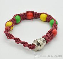 bracelet pipe smoking pipe click n vape sneak a toke rasta dry herb ecigar tobacco