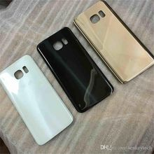 Original Quality Replacement Glass battery door housing back cover case with logo and adhesive For Samsung Galaxy S7 S7 Edge