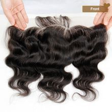 Grade 7A Malaysian Lace Frontal Closures Body Wave 13x4 Free/Middle/3 Part Full Lace Frontal 100%Unprocessed Virgin Human Hair Natural Black