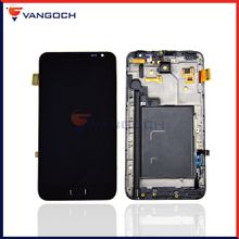 For Samsung Galaxy Note N7000 LCD Display Touch Screen Digitizer Assembly with frame Repair Repalcement by DHL