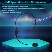 NEWGOOD FM Wireless Microphone Headset Megaphone Radio Mic For Loudspeaker Teaching Meeting Tour Guide Microfones