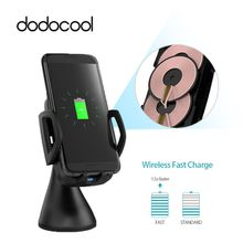 dodocool 10W 3 Coils Qi Wireless Car Charger Charging Dock LED indicator CE, RoHS