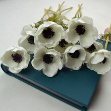Decoratve Flowers Real Touch Artificial Anemone Flowers for DIY Wedding Bouquets