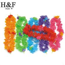 Silk Artificial Flowers hawaiian flower lei Party supplies garland/hawaii wreath cheerleading products hawaii necklace Manufacturer HH0021
