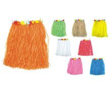 Wedding Party Decorations Hawaii Grass Skirt Hula Skirt with Flowers Garland Party Supplies Masquerade Hwaiian Costumes Favors HQ0001