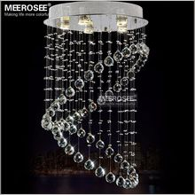 Semi Flush Mounted Crystal Light with GU10 Lamp K9 Crystal Ceiling Lighting Stair Lighting Hallway Aisle