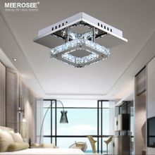 High quality Modern LED Crystal Ceiling Light Fixture Square LED Crystal Lamp for Hallway Corridor Asile LED Lighting Fast Shipping