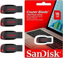 Original SanDisk Black USB 16GB USB Flash Drives Blade compact sealed packaging spirit is full genuine licensed MOQ 100