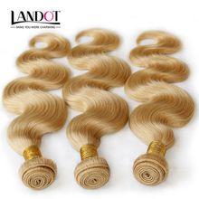 Color 613# Bleach Blonde Eurasian Body Wave Virgin Hair Eurasian Human Hair Weave Bundles SOFT THICK Tangle Free Hair Extensions Dyeable