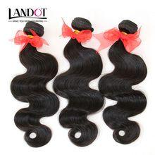 Brazilian Virgin Hair Body Wave 3Pcs Unprocessed 7A Grade Brazilian Human Hair Weave Wavy Bundles Nature Color Extensions Double Drawn Wefts