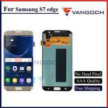 Grade A+++ Original quality LCD For Galaxy S7 edge lcd Display Touch Screen Digitizer Assembly Replacement Repair free shipping