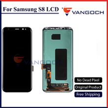Original LCD Screen for Samsung Galaxy S8 Display G950 S8 Plus G955 Assembly Replacement with adhesives Free Shipping