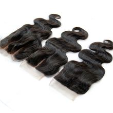 Brazilian Peruvian Malaysian Indian Cambodian Body Wave Full Lace Closures 4*4 Unprocessed Virgin Human Hair Top Closure Free Middle 3 Part