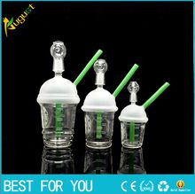 Starbuck Cup Original Opaque Bright green dab concentrate oil rig glass bong glass dome and nail Hookah glass water pipe