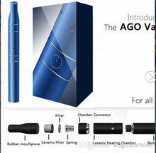 Ago Vaporizer G5 Vaporizer smoking pipe Pen Kit Electronic Cigarette Dry Herb vape click N vape sneak a LCD Display vapor metal pipe