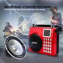 auto FM radio and one key voice recorder outdoor dancing and morning exercise music player speaker with subwoofer and echo/feedback control