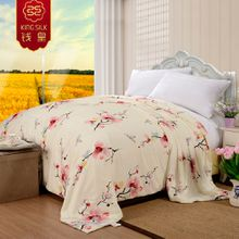 summer quilt new 100% cotton silk blanket comforter silk quilts Plum flower bedding sets