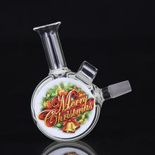Colorful Oil Rigs Glass Bongs Water Pipes Bongs 10mm Joint 8cm Heigth with Oil rigs Nail Hood MS007