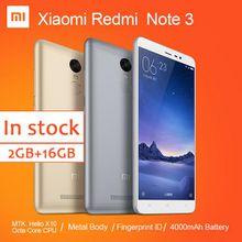 Xiaomi Redmi Note 3 FDD Cell Phone MTK Helio X10 Octa Core MIUI7 Fingerprint Metal Body 5.5'' 2GB 16GB 4000mAh