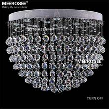 Modern Crystal Chandelier Light Fixture Round Crystal Lamp semi Flush Mounted chandelier lighting Dining Light Fitting