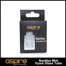 Wholesale - Genuine Aspire Nautilus Mini 2ml glass tube for Nautilus mini airflow control glass Mini tank replacement tube free shipping
