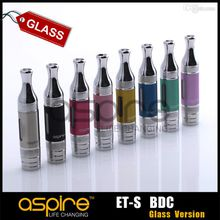 Wholesale - Aspire ET-S BDC Clearomizer ET S glass pyrex glassomizer Aspire ET-S BDC Clearomizer pyrex glass version Free Shipping