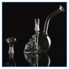 Skull Oil Rig Glass Bongs Mothership Glass Recycler Water Pipes Dabbers With 14.5mm Joint Glass Skeleton Hookahs