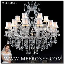 Foyer Maria Theresa Crystal Chandeliers of Living Silver Clear Modern Chandelier Lamp for Hotel 18 lights authentic chrystal