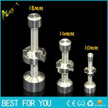 Titanium Nail smoking metal pipe click n vape for Incense Globe Dab Oil Rig sneak a toke 14mm 18mm