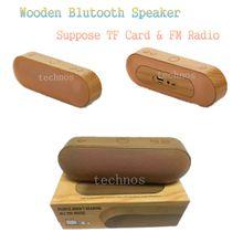 XC-Z3 Wooden Body Bluetooth mini Speakers FM Radio Portable USB FM TF Speakers Wireless Wound Surround Music Player Free DHL