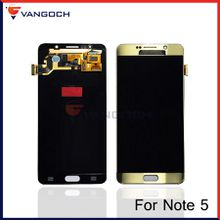 For Samsung Galaxy Note 5 N9200 N920T N920P original LCD Display Touch Screen Digitizer Assembly replacement by DHL